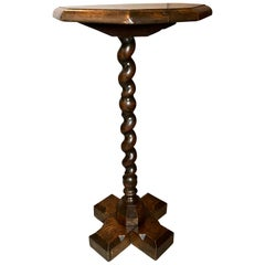 William and Mary Oak Candlestand