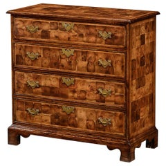 William and Mary Oyster Veneered Chest