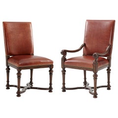 William and Mary Style Dining Chairs