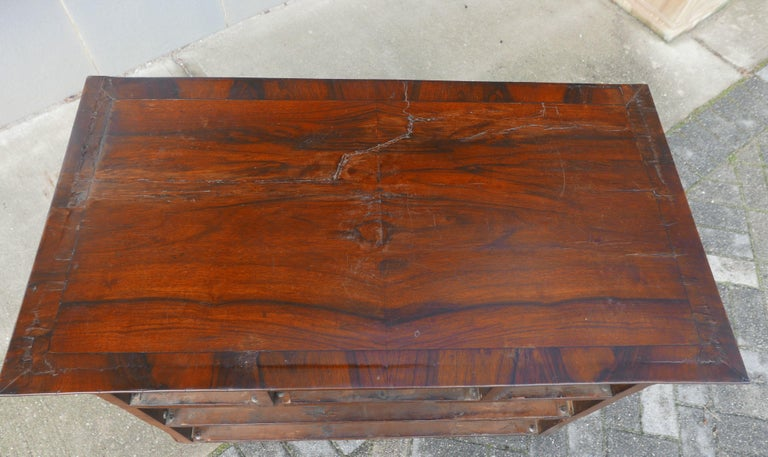 William and Mary Walnut Burl Chest on Stand For Sale 5