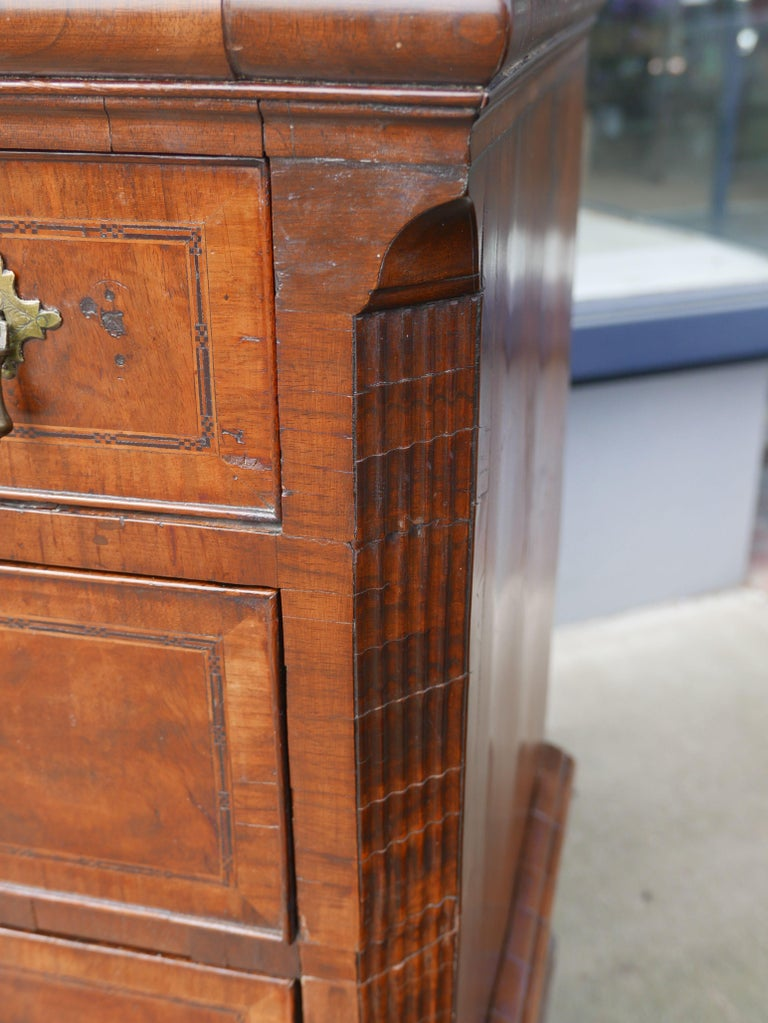 William and Mary Walnut Burl Chest on Stand For Sale 3