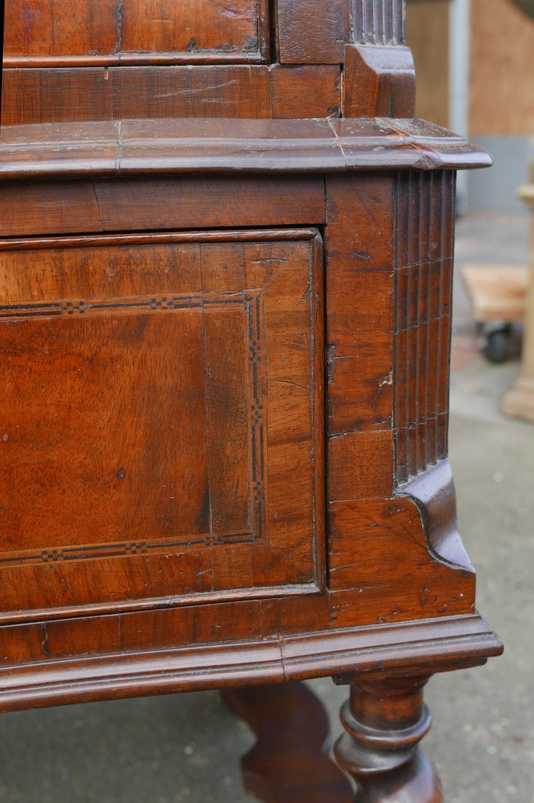 William and Mary Walnut Burl Chest on Stand For Sale 4