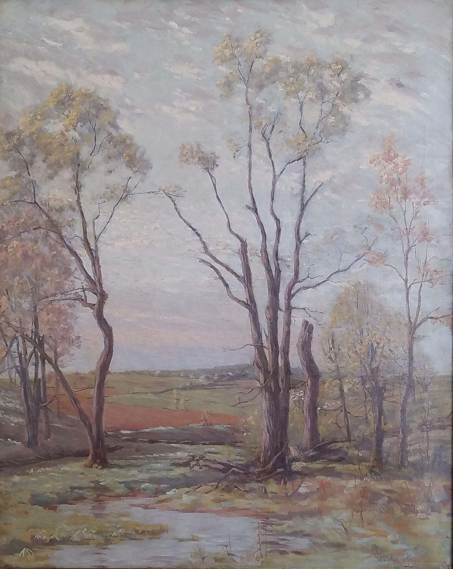 """Springtime Landscape,"" William Anderson Coffin, American Impressionism Barbizon"