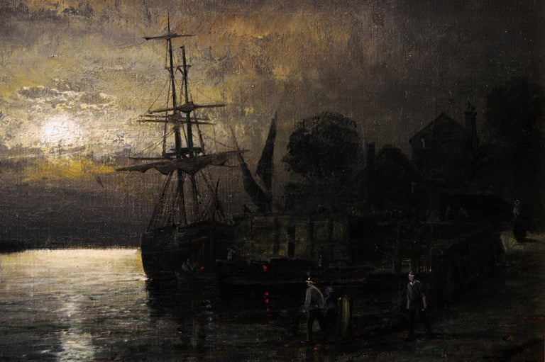 19th Century pair of seascape oil paintings  2
