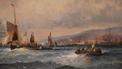 """Oil Painting """"Scarborough Yorkshire"""" by William Anslow Thornley"""
