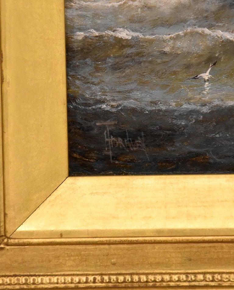 Oil Painting Seascape Coastal Marine Pair pair William Anslow Thornley 2