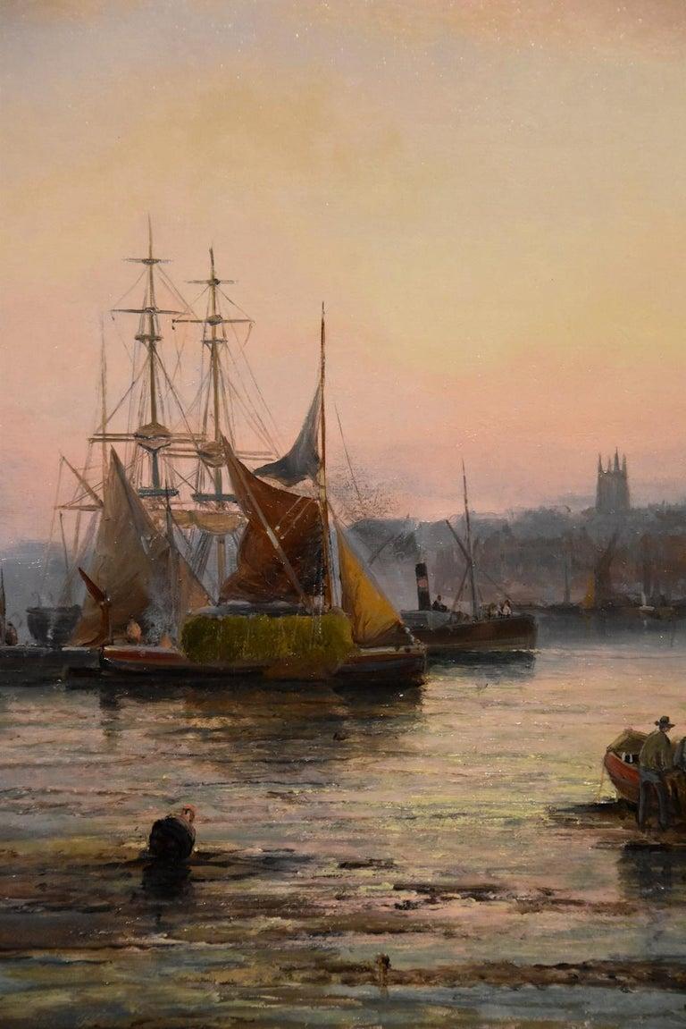 Oil Painting Seascape Coastal Marine Pair pair William Anslow Thornley 5
