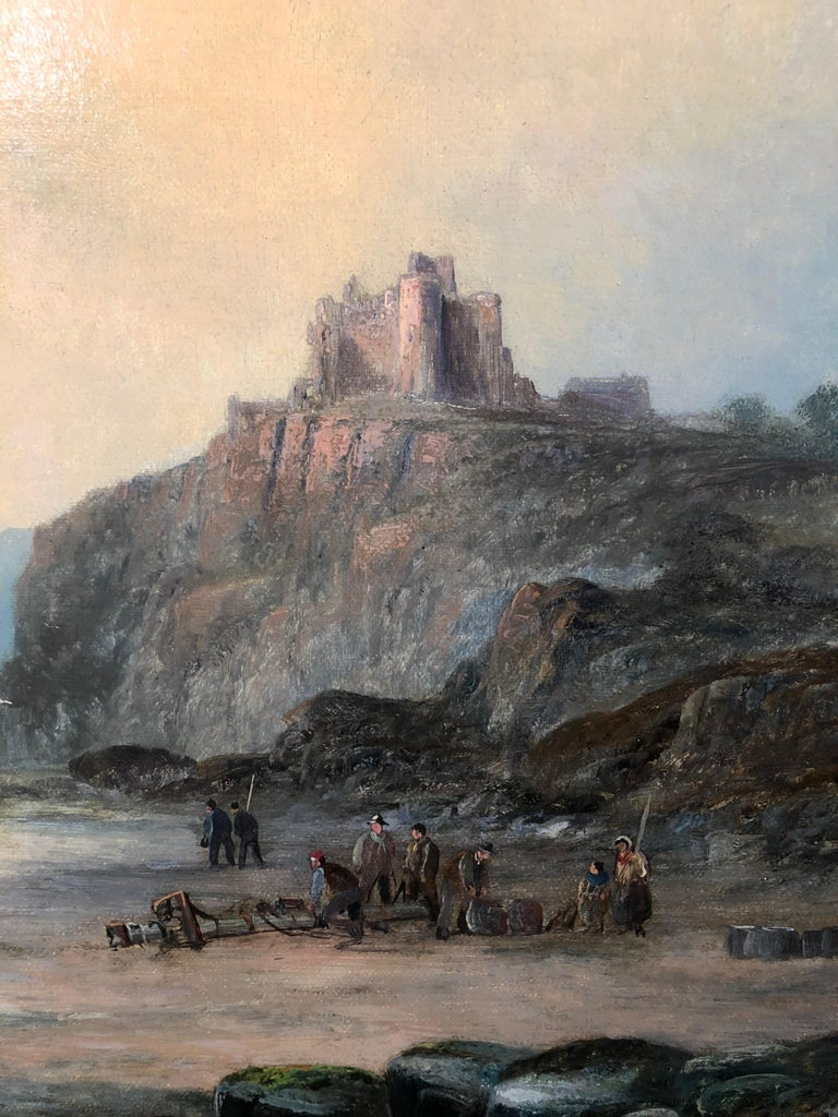 Tantallon Castle - Victorian Painting by William Anslow Thornley