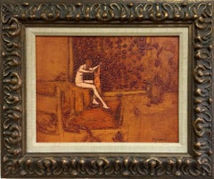 """Bather""  MID CENTURY MODERN HOUSTON ARTIST"