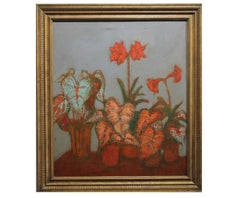 Still Life with Lilies and Colocasia Plants