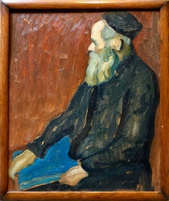 Impressionist Rabbi Oil Painting Judaica