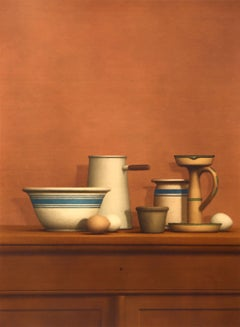 "William Bailey, ""Still Life with Eggs, Candlestick, and Bowl,"" 1975"