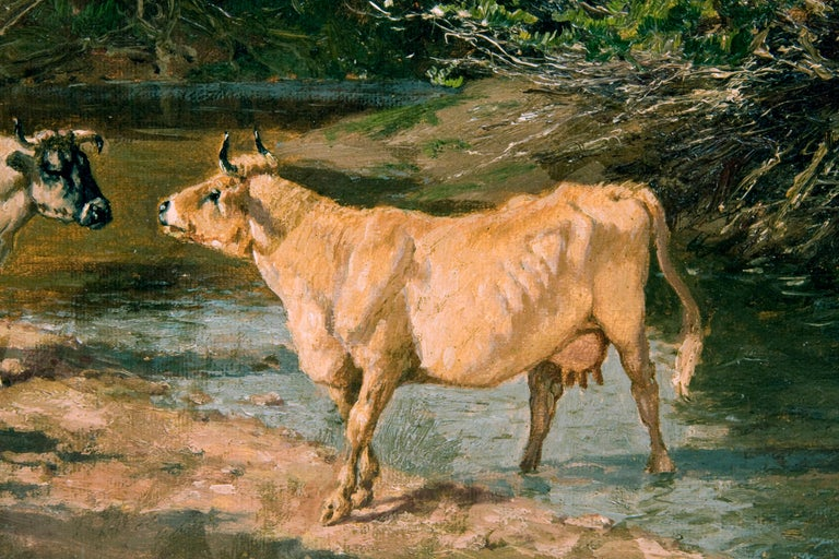 19th Century Cow Painting, by American Painter William Baird For Sale 2