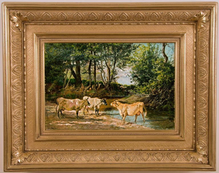 19th Century Cow Painting, by American Painter William Baird For Sale 3