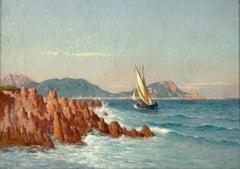19th Century Marine Painting, by American Painter William Baird