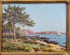 19th Century View, Les Roches Rouges and Coast at Agay in the South of France.