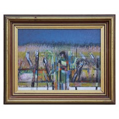 Cubist Style Abstract Landscape Painting