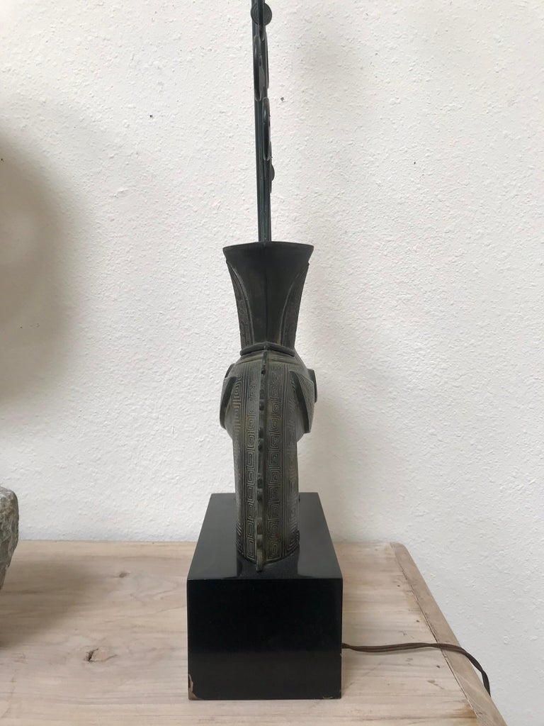 Metalwork William Billy Haines Pompeian Bronze Lamp, 1960's For Sale