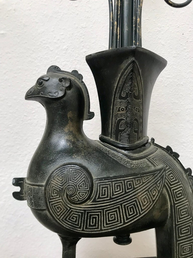 William Billy Haines Pompeian Bronze Lamp, 1960's In Good Condition For Sale In Los Angeles, CA