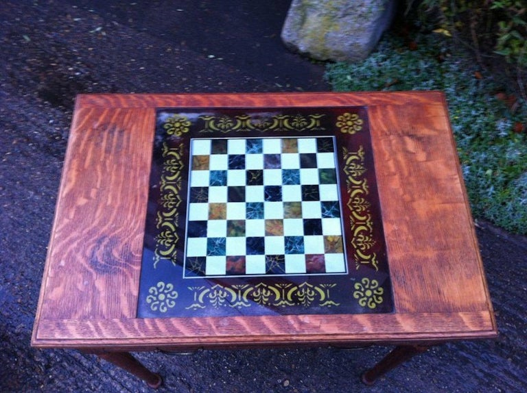 Arts and Crafts William Birch for Liberty & Co. a Good Quality Arts & Crafts Oak Chess Table For Sale