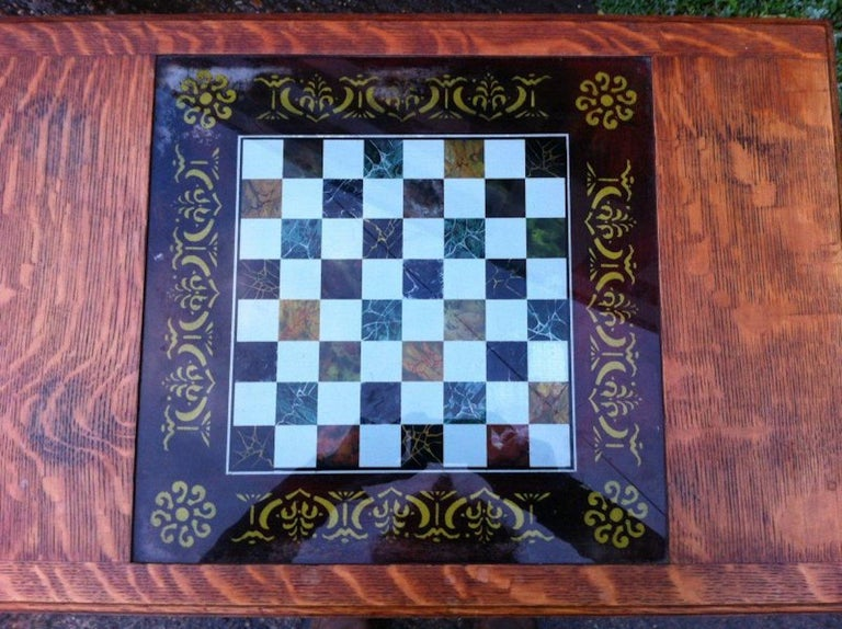 English William Birch for Liberty & Co. a Good Quality Arts & Crafts Oak Chess Table For Sale
