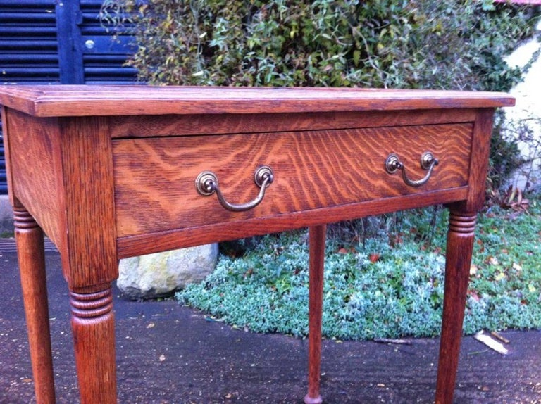 William Birch for Liberty & Co. a Good Quality Arts & Crafts Oak Chess Table In Good Condition For Sale In London, GB