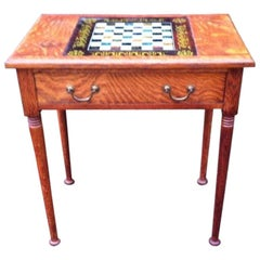 William Birch for Liberty & Co. a Good Quality Arts & Crafts Oak Chess Table