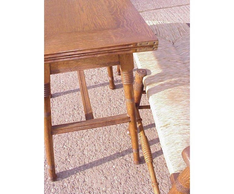 English William Birch for Liberty & Co. an Arts & Crafts Oak Fold Over Card Table For Sale