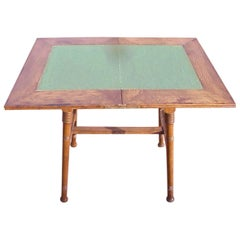 William Birch for Liberty & Co. an Arts & Crafts Oak Fold Over Card Table
