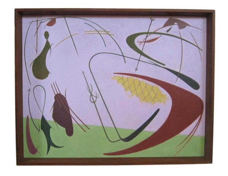 William Bishop Owen Jr. - 1950s oil painting - 'Marine Fantasy' - Abstract Painting by William Bishop Owen Jr.