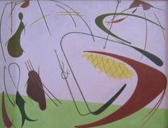 William Bishop Owen Jr. - 1950s oil painting - 'Marine Fantasy'