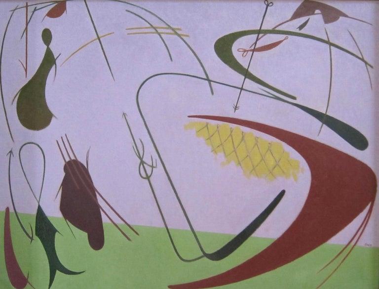 William Bishop Owen Jr. - 1950s oil painting - 'Marine Fantasy' - Painting by William Bishop Owen Jr.