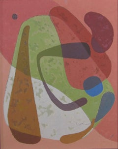 William Bishop Owen Jr. - Mid-century abstract oil painting - 1950s