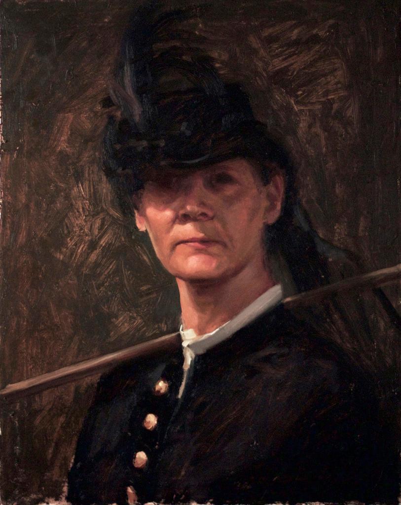 Aurora - Winslow Homer Inspired, Croquet and American Civil War, Oil on Linen