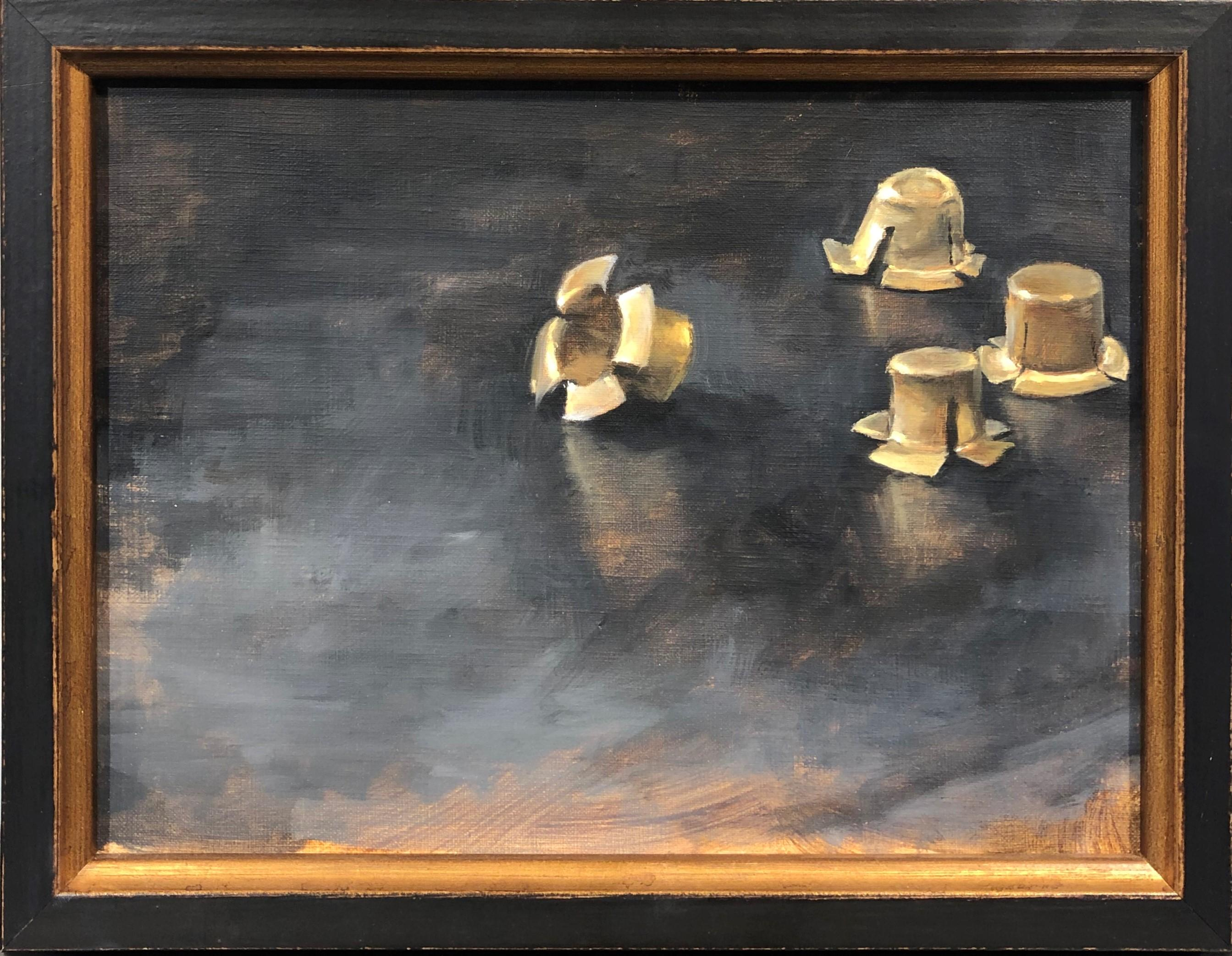 Caps, Still Life of Percussion Caps Used During the Civil War, Oil on Linen