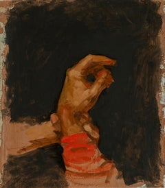 Sketch for Finding a Pulse, Hand of an American Civil War Soldier, Oil on Linen