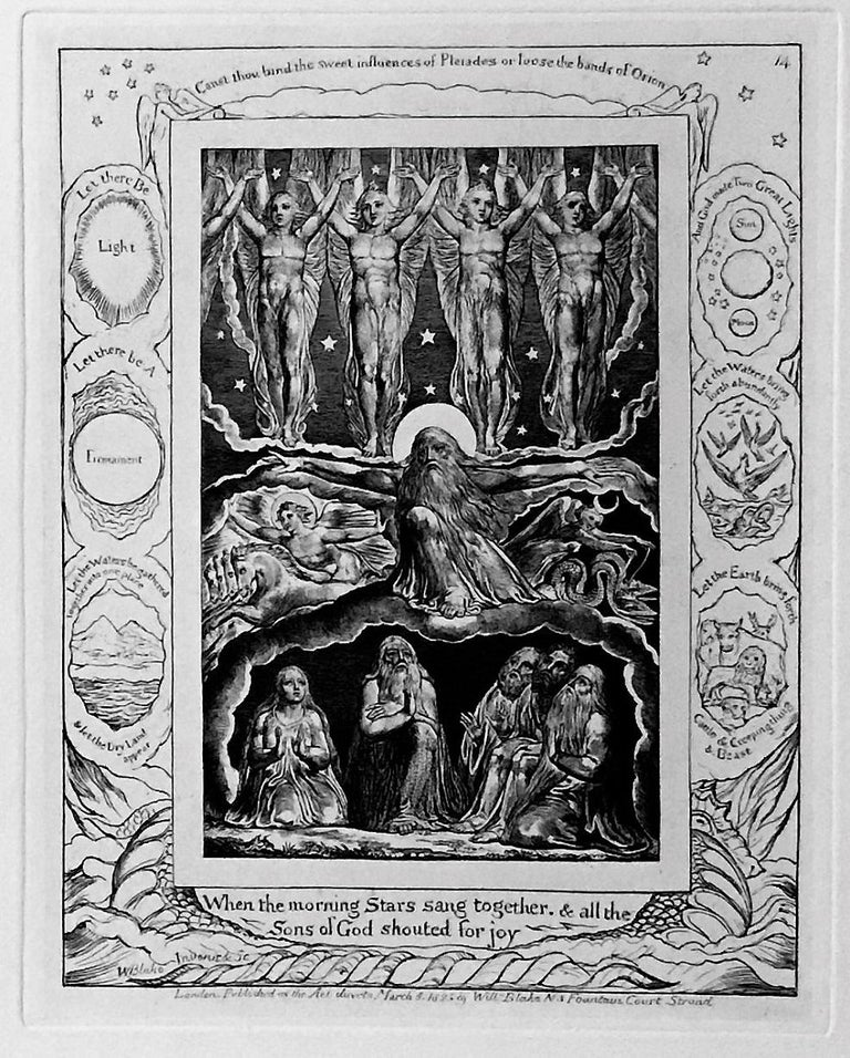 Illustrations of the Book of Job - Old Masters Print by William Blake