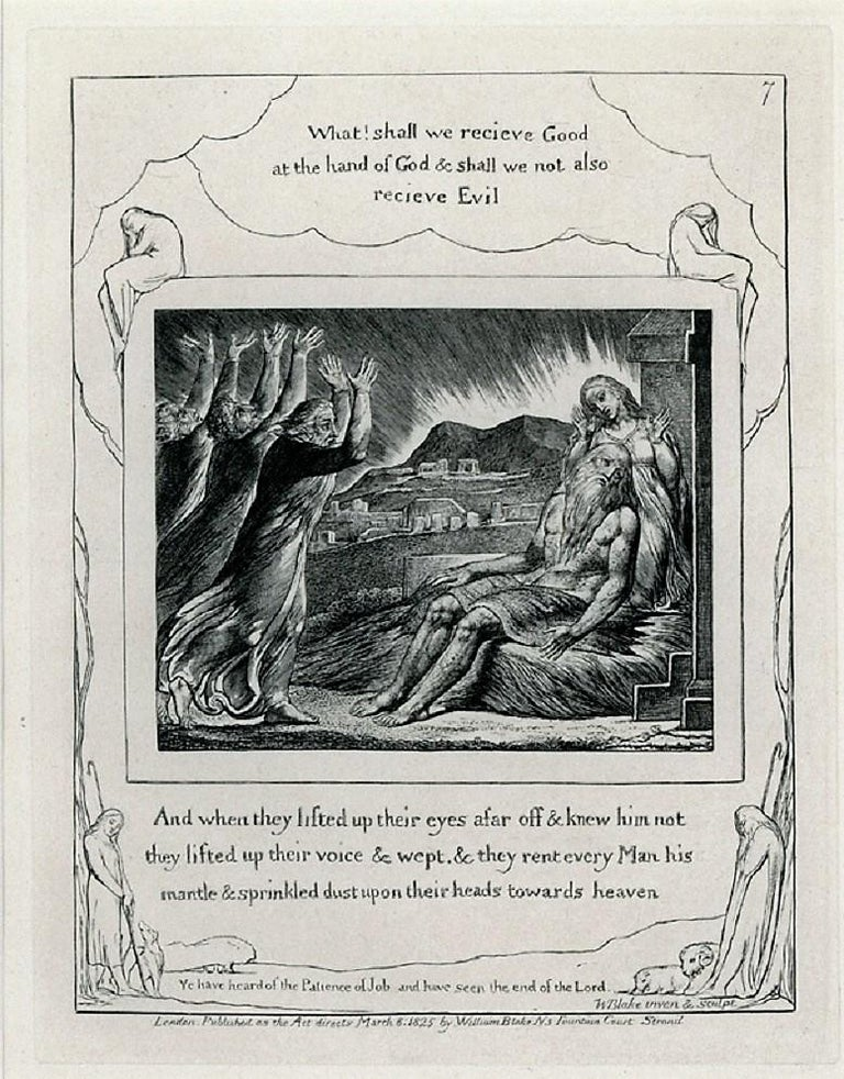 Job's Comforters - Old Masters Print by William Blake