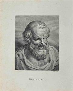 Portrait of Democritus - Original Etching by William Blake - 1810