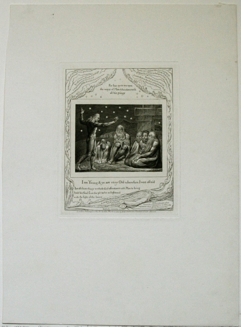 The Wrath of Elihu: 'I Am Young, And Ye Are Very Old, Wherefore I Was Afraid.' - Print by William Blake