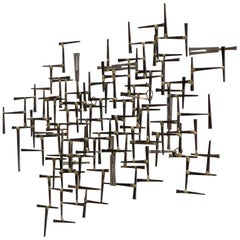 William Bowie Abstract Nail Wall Sculpture