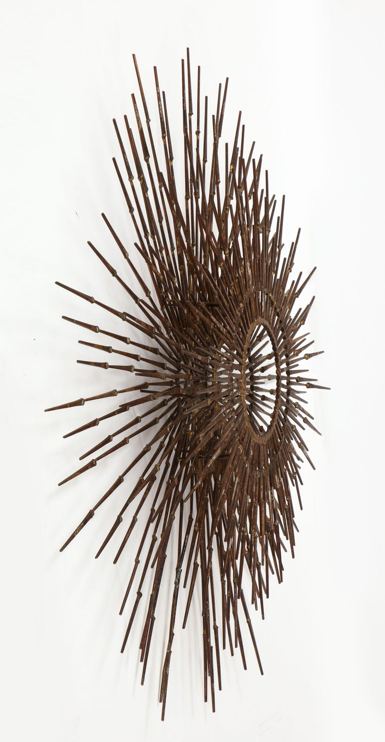William Bowie Sunburst Gilt Wall Sculpture For Sale 3