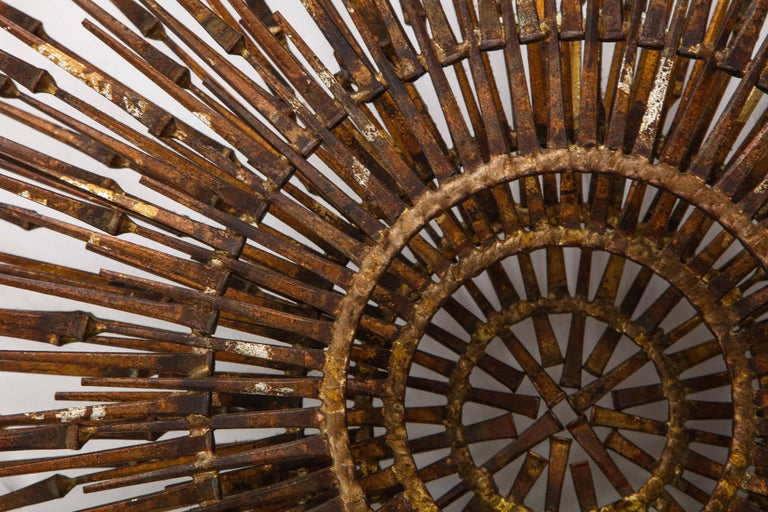 William Bowie Sunburst Gilt Wall Sculpture In Good Condition For Sale In New York City, NY
