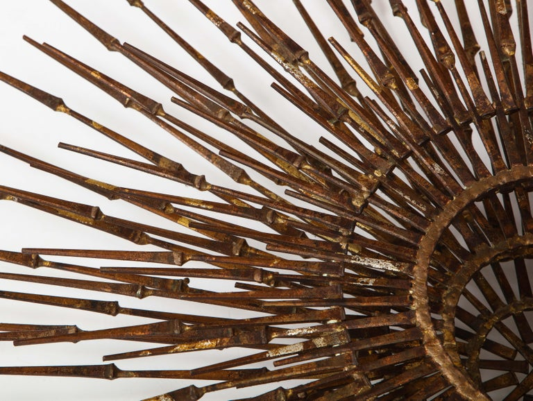 William Bowie Sunburst Gilt Wall Sculpture For Sale 2