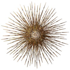 William Bowie Sunburst Gilt Wall Sculpture