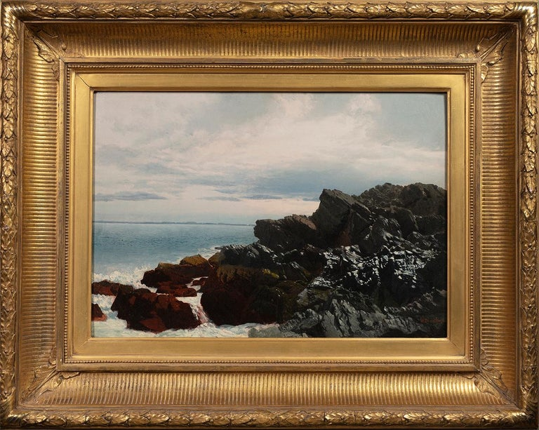 Rocky Shore  - Painting by William Bradford