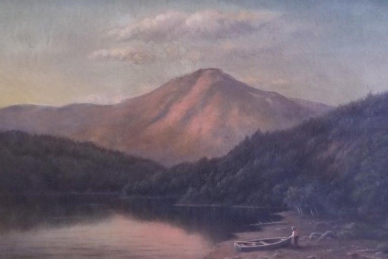 William Bradford Landscape Painting - Whiteface Mt, Lake Placid NY