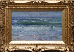 Scottish Seascape - Scottish Edwardian art 1904 marine sea oil painting Scotland