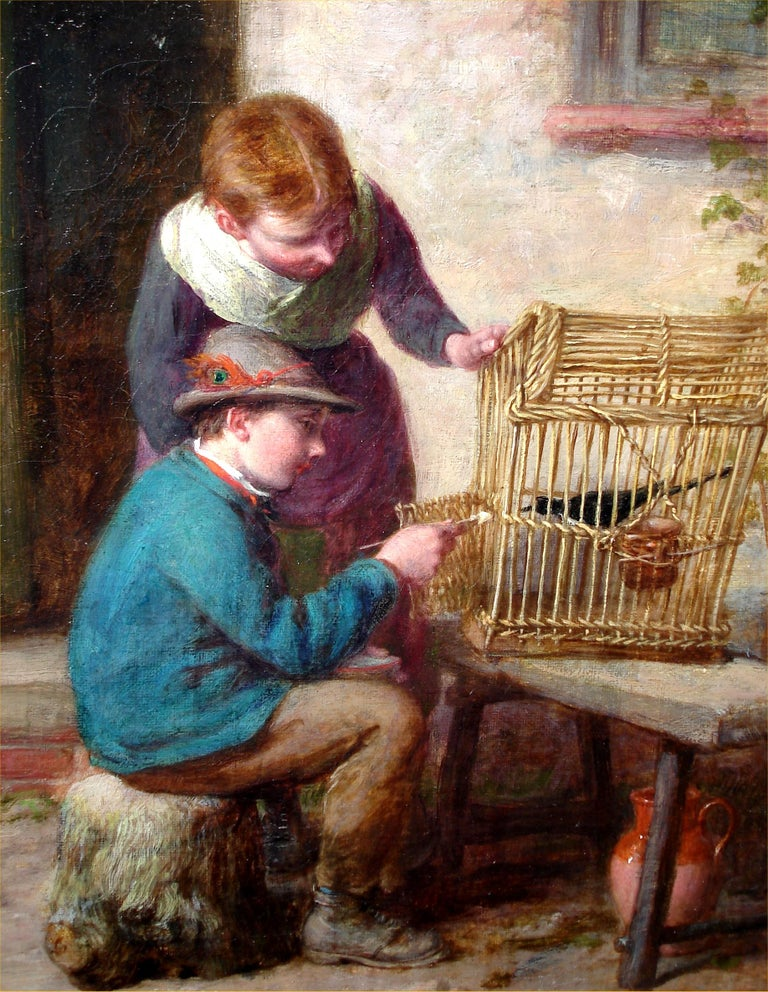 A Caring Hand - Painting by William Bromley