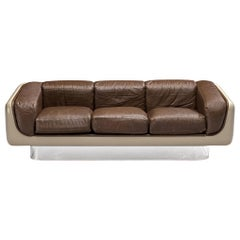 William C. Andrus for Steelcase Sofa in Fiberglass and Leather